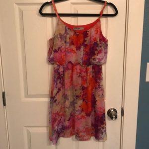 Dresses & Skirts - Orange and pink flower dress